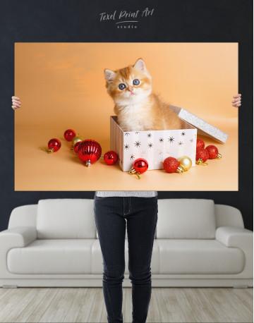 Christmas Box British Kitten Canvas Wall Art - image 9