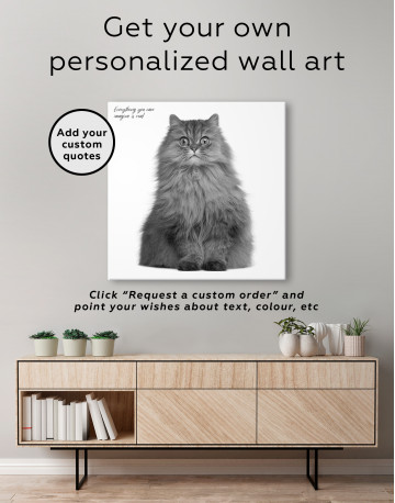 Surprised Persian Cat Canvas Wall Art - image 3