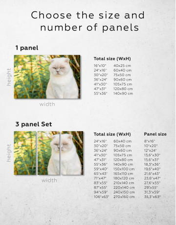 White Bamboo Cat Canvas Wall Art - image 9