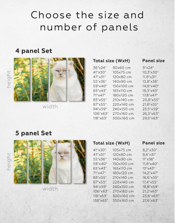 White Bamboo Cat Canvas Wall Art - image 8
