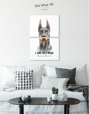 I am Batman Doberman Pinscher Canvas Wall Art - image 5