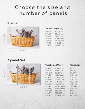 French Bulldog Puppies in Basket Canvas Wall Art - image 9