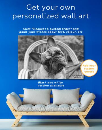 French Bulldog Sitting on Garden Chair Canvas Wall Art - image 7