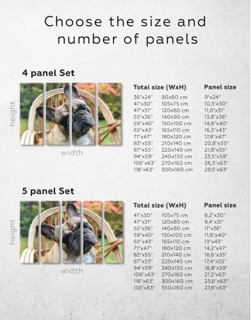 French Bulldog Sitting on Garden Chair Canvas Wall Art - image 2