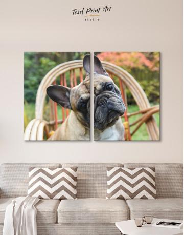 French Bulldog Sitting on Garden Chair Canvas Wall Art - image 10
