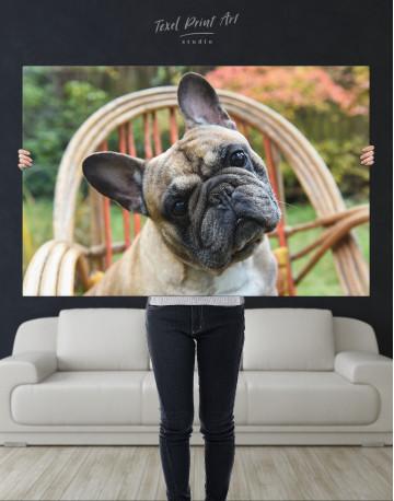 French Bulldog Sitting on Garden Chair Canvas Wall Art - image 9