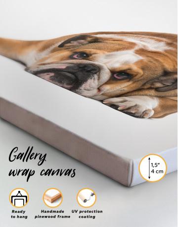 French Bulldog Lying on the Floor Canvas Wall Art - image 8