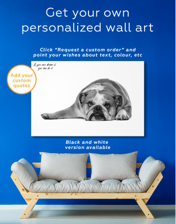 French Bulldog Lying on the Floor Canvas Wall Art - image 7