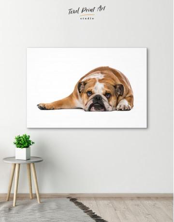 French Bulldog Lying on the Floor Canvas Wall Art - image 6