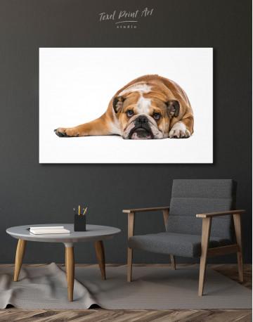 French Bulldog Lying on the Floor Canvas Wall Art - image 4