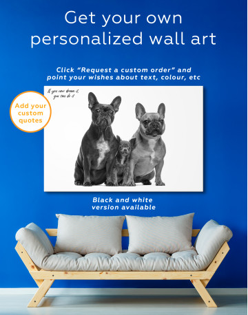 Puppy Chihuahua and French Bulldogs Canvas Wall Art - image 7