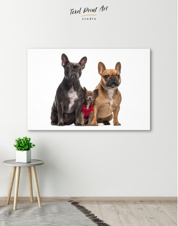 Puppy Chihuahua and French Bulldogs Canvas Wall Art - image 6