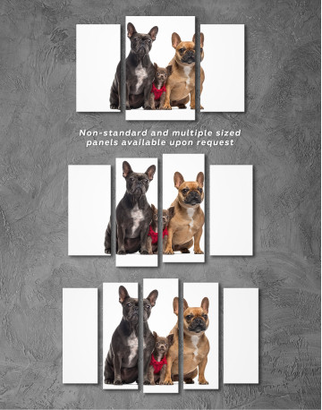 Puppy Chihuahua and French Bulldogs Canvas Wall Art - image 5