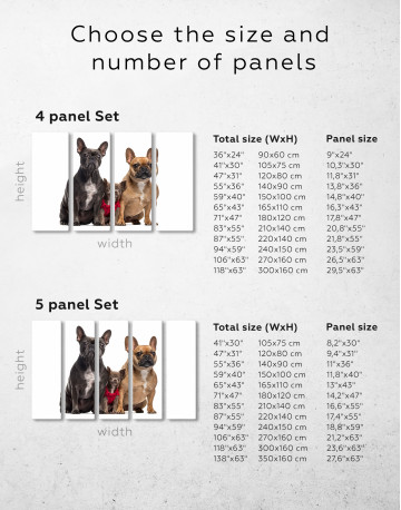 Puppy Chihuahua and French Bulldogs Canvas Wall Art - image 2