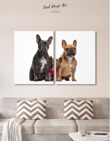 Puppy Chihuahua and French Bulldogs Canvas Wall Art - image 10