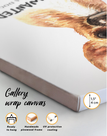 Most Wanted Chihuahua Canvas Wall Art - image 1