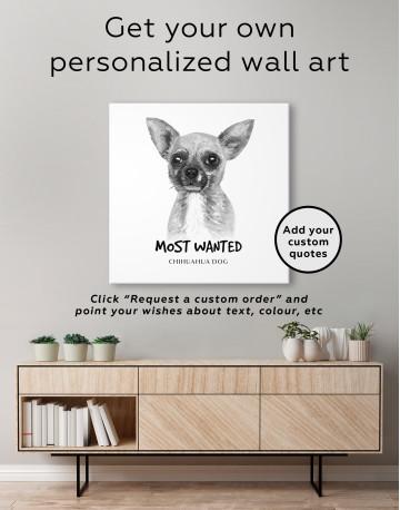 Most Wanted Chihuahua Canvas Wall Art - image 2