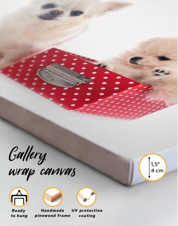 Cute Pomeranian and Chihuahua Canvas Wall Art - image 8