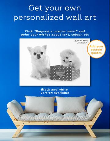 Cute Pomeranian and Chihuahua Canvas Wall Art - image 7