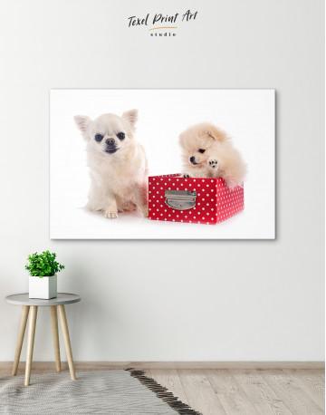 Cute Pomeranian and Chihuahua Canvas Wall Art - image 6