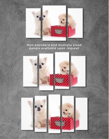 Cute Pomeranian and Chihuahua Canvas Wall Art - image 5