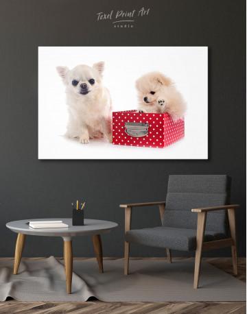 Cute Pomeranian and Chihuahua Canvas Wall Art - image 4