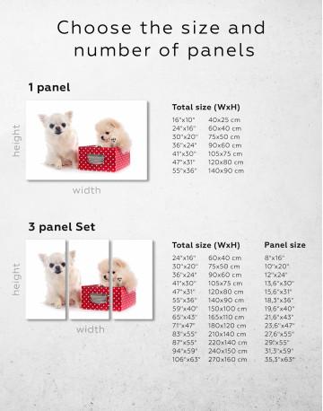 Cute Pomeranian and Chihuahua Canvas Wall Art - image 2