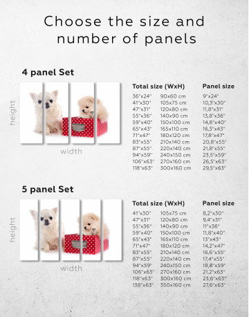 Cute Pomeranian and Chihuahua Canvas Wall Art - image 1