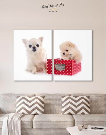 Cute Pomeranian and Chihuahua Canvas Wall Art - image 9