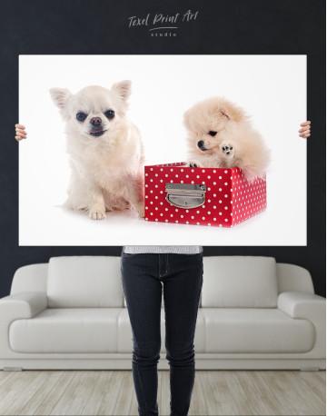 Cute Pomeranian and Chihuahua Canvas Wall Art - image 10