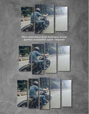 Chopper Rider Canvas Wall Art - image 2