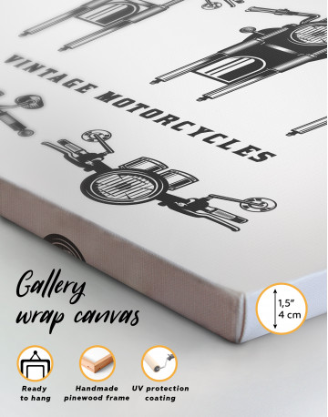 Vintage Motorcycles Canvas Wall Art - image 3