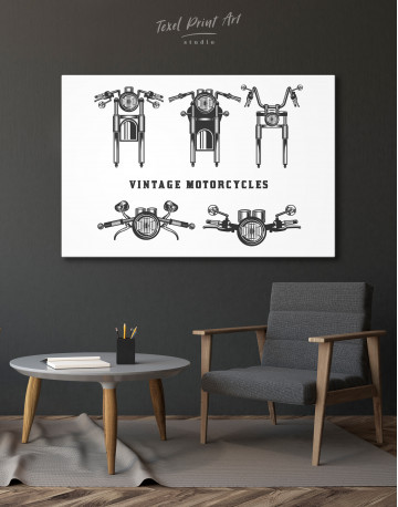 Vintage Motorcycles Canvas Wall Art - image 6