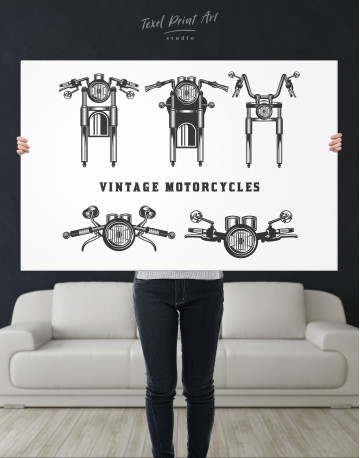 Vintage Motorcycles Canvas Wall Art - image 10