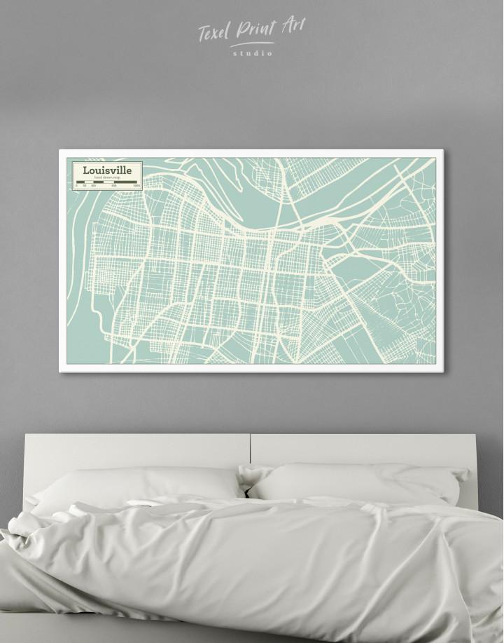 Louisville City Map Canvas Wall Art