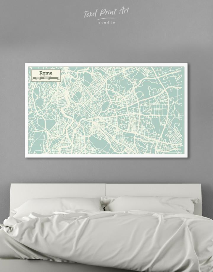 Rome City Map Canvas Wall Art