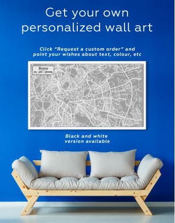 Rome City Map Canvas Wall Art - image 5