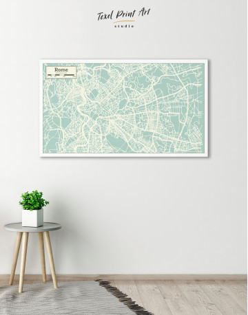 Rome City Map Canvas Wall Art - image 4