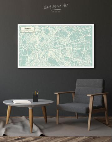 Rome City Map Canvas Wall Art - image 3