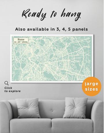Rome City Map Canvas Wall Art - image 2