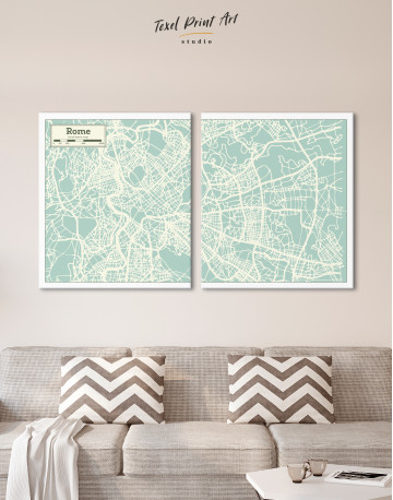 Rome City Map Canvas Wall Art - image 8