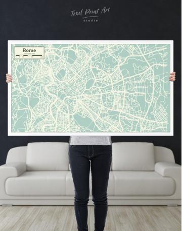 Rome City Map Canvas Wall Art - image 9
