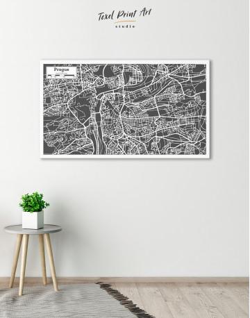 Prague City Map Canvas Wall Art - image 4
