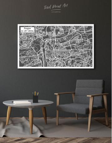 Prague City Map Canvas Wall Art - image 3