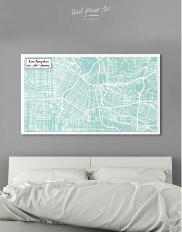 Los Angeles City Map Canvas Wall Art