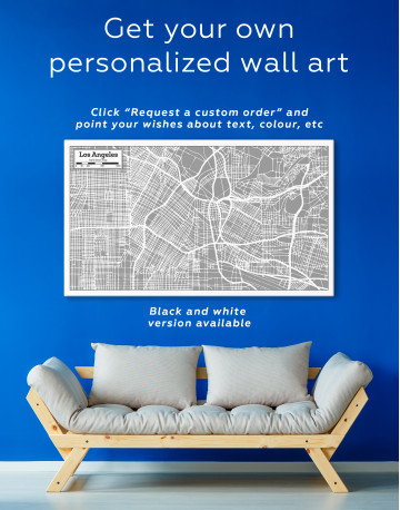 Los Angeles City Map Canvas Wall Art - image 5