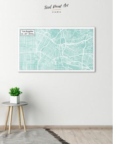Los Angeles City Map Canvas Wall Art - image 6