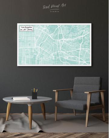 Los Angeles City Map Canvas Wall Art - image 8