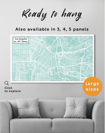 Los Angeles City Map Canvas Wall Art - image 7