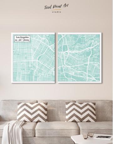 Los Angeles City Map Canvas Wall Art - image 2